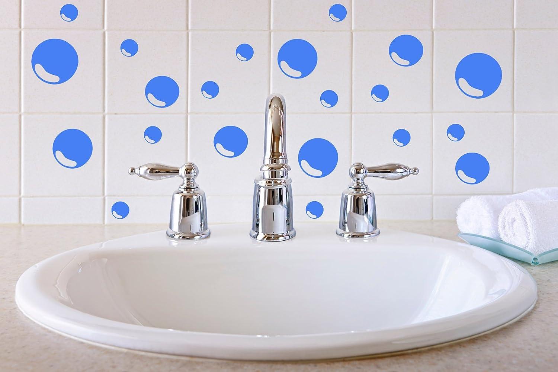 Pegatinas de vinilo para azulejos de baño con diseño de burbujas ...