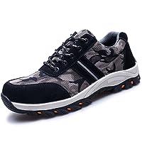 COOU Chaussure de Sécurité s1p Respirant Chaussures de Travail avec Embout de Protection en Acier Et Semelle de Protection Unisexes