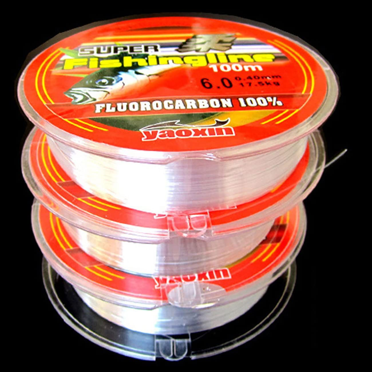 THEE Strong Fishing Line Japanese 100m Nylon Transparent Fluorocarbon Tackle Line 2 Rolls