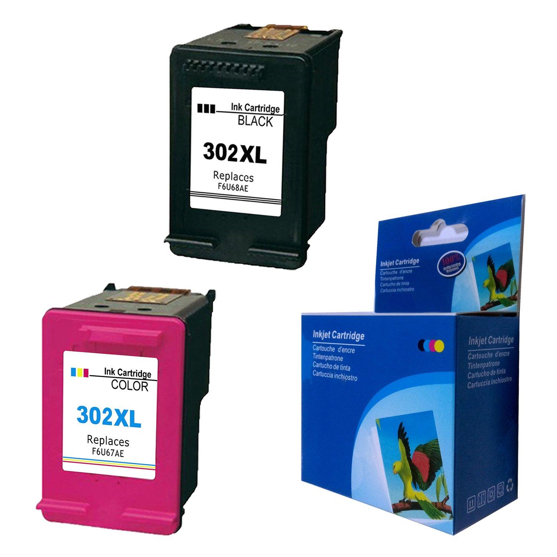 Gmoher Cartucho de Tinta remanufacturado para HP 302XL Cartucho de Tinta HP 302 HP F6U68AE / HP F6U67AE Compatible con HP OfficeJet 3830 3831 3833 ...