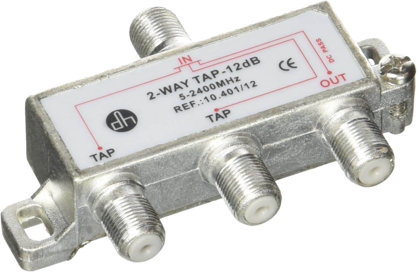 Cablematic - Derivador de 2 vías para TV/SAT de 12 dB con ...