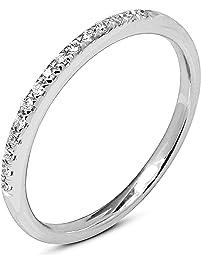 round natural diamond wedding band 10k gold for women - Gold Wedding Rings For Women