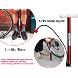 DeoDap High Pressure Deluxe/Strong Steel Air Pump for Bicycle, Car, Ball, Motorcycle