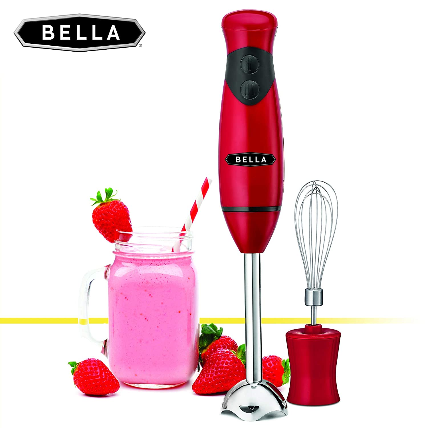 BELLA 2-Speed Hand Immersion Blender with Whisk Attachment