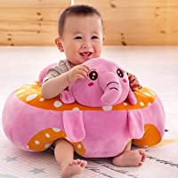 Besties Baby Soft Plush Cushion Cotton Baby Sofa Seat Infant Safety Car Chair Learn to Sit Stool Training Kids Support Sitting for Dining (Orange)