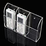 KINGSO Remote Control Holder, Wall Mount Clear
