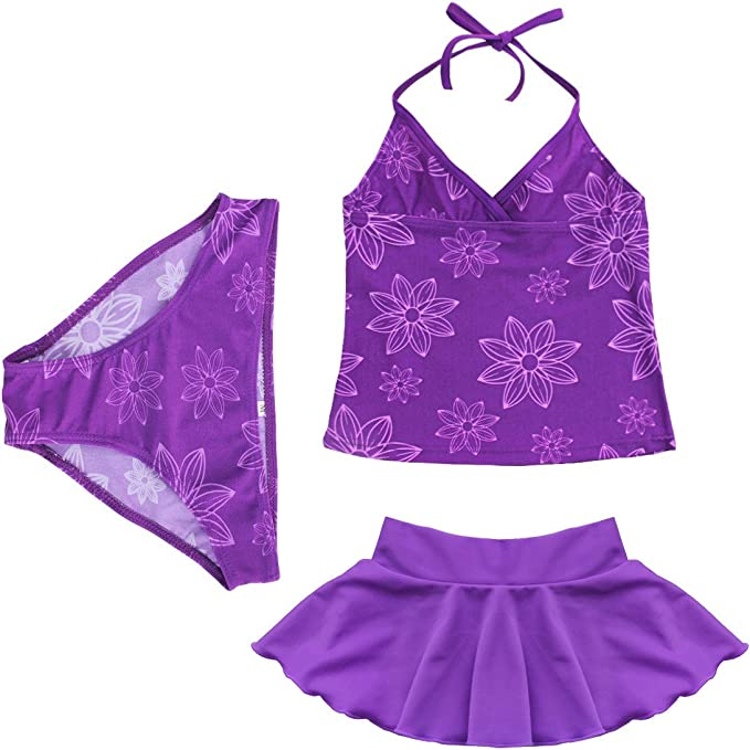 Kinder Mädchen Badeanzug Bikini Bade Set Tankini Kleidung 98 104 110 116 140 152