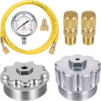 Bonbo Fuel Pressure Test Kit /& Fuel Filter Cap Billet Aluminum with Brass Screw for Ford 2003-2007 Power Stroke 6.0L Diesel