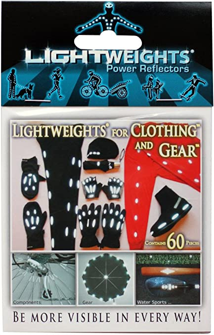 Lightweights Reflectors Safety Stickers for Kids Clothing/&Gear 20 Pieces