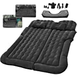 SUV RV Air Mattress Car Bed Camping Cushion Pillow - Inflatable Thickened Car Air Bed with Electric Air Pump Flocking…