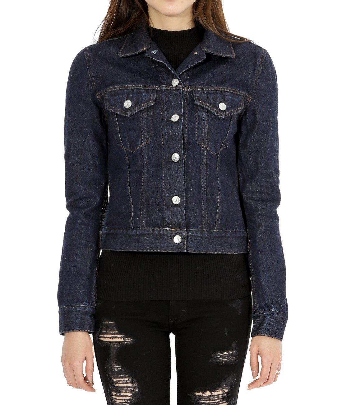 Wiberlux Acne Top New Worn Women's Short Denim Jacket 36 Dark Blue