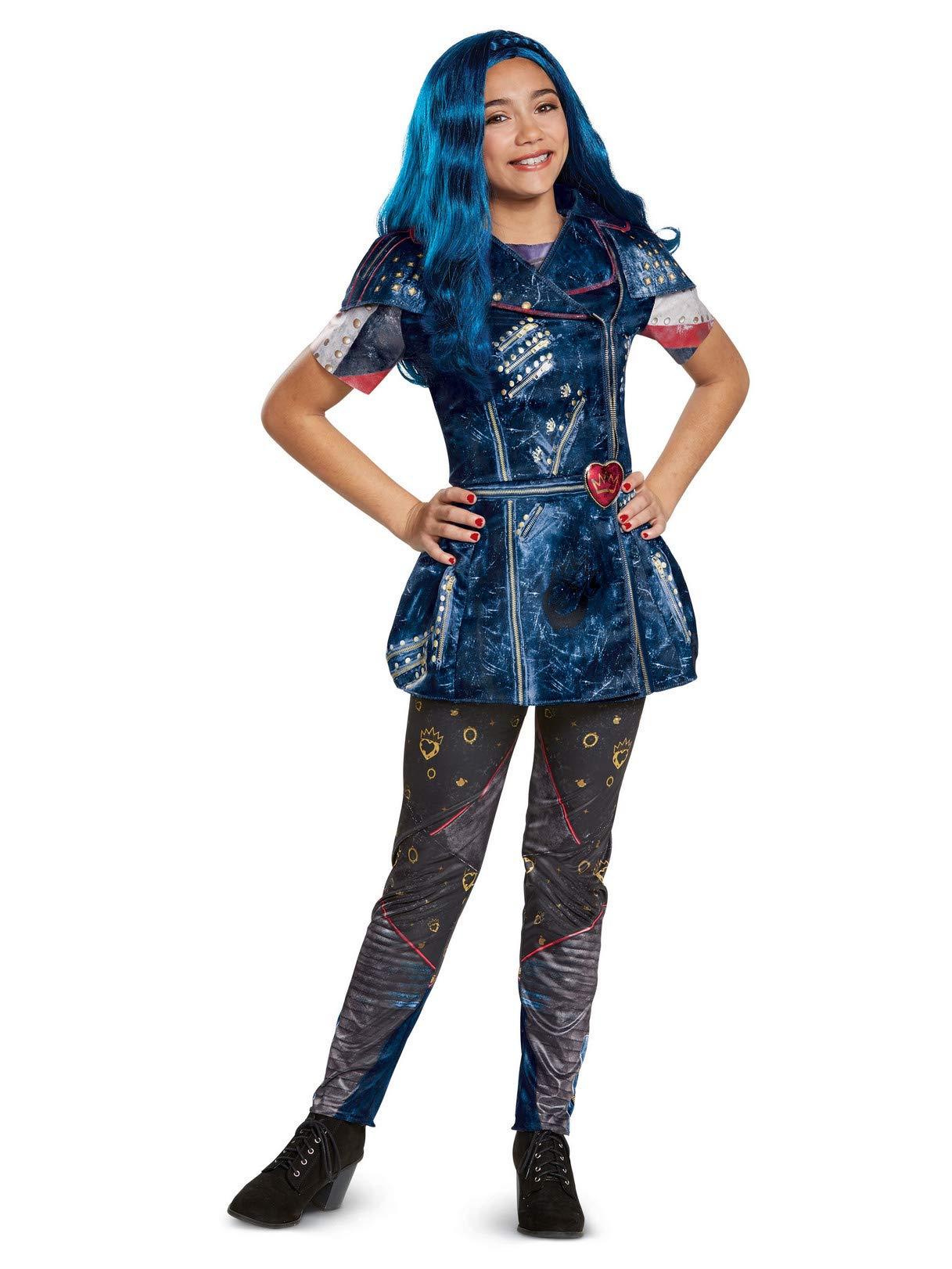 Disney Evie Classic Descendants 2 Costume, Blue, Medium (7-8)