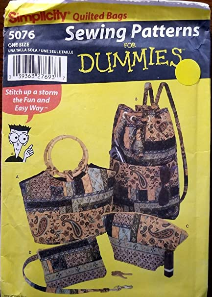 Amazon Sewing Patterns For Dummies Simplicity Quilted Bags 5076