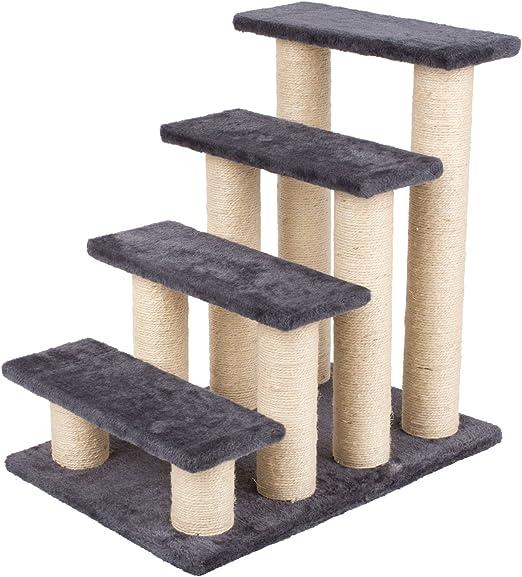 PEDY escalera para mascotas, escalera para gatos, escalera para mascotas, escalera para mascotas, rampa para animales, escalera para gatos, ayuda para subir, superficie de sisal: Amazon.es: Productos para mascotas