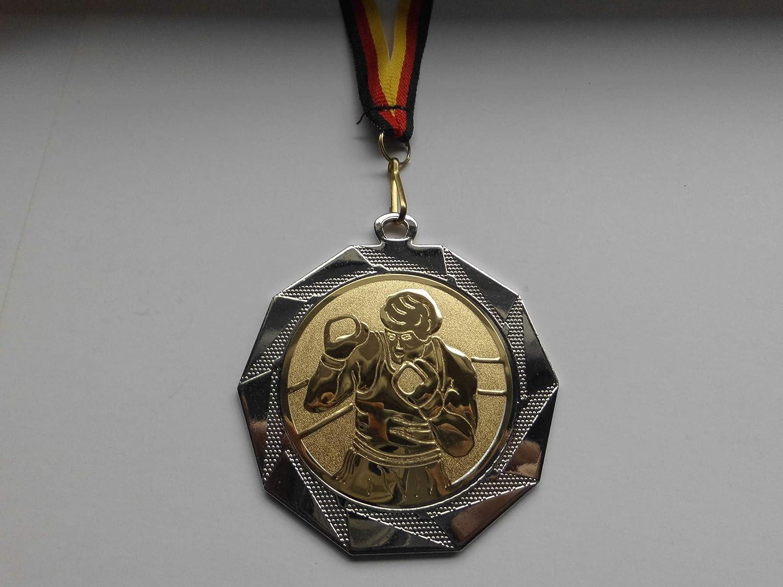 Fanshop L/ünen 10 St/ück Medaillen Spiele Skat Gold Gro/ße Stahl 70mm mit Medaillen-Band - mit Alu Emblem 50mm e103 Poker