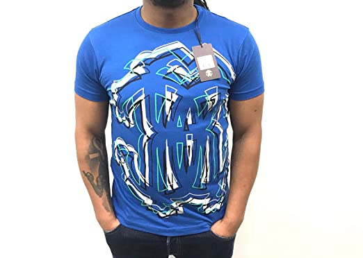 Roberto Cavalli - T Shirt Homme Collection 2018 Neuf Bleu  Amazon.fr ... 25da54934da8