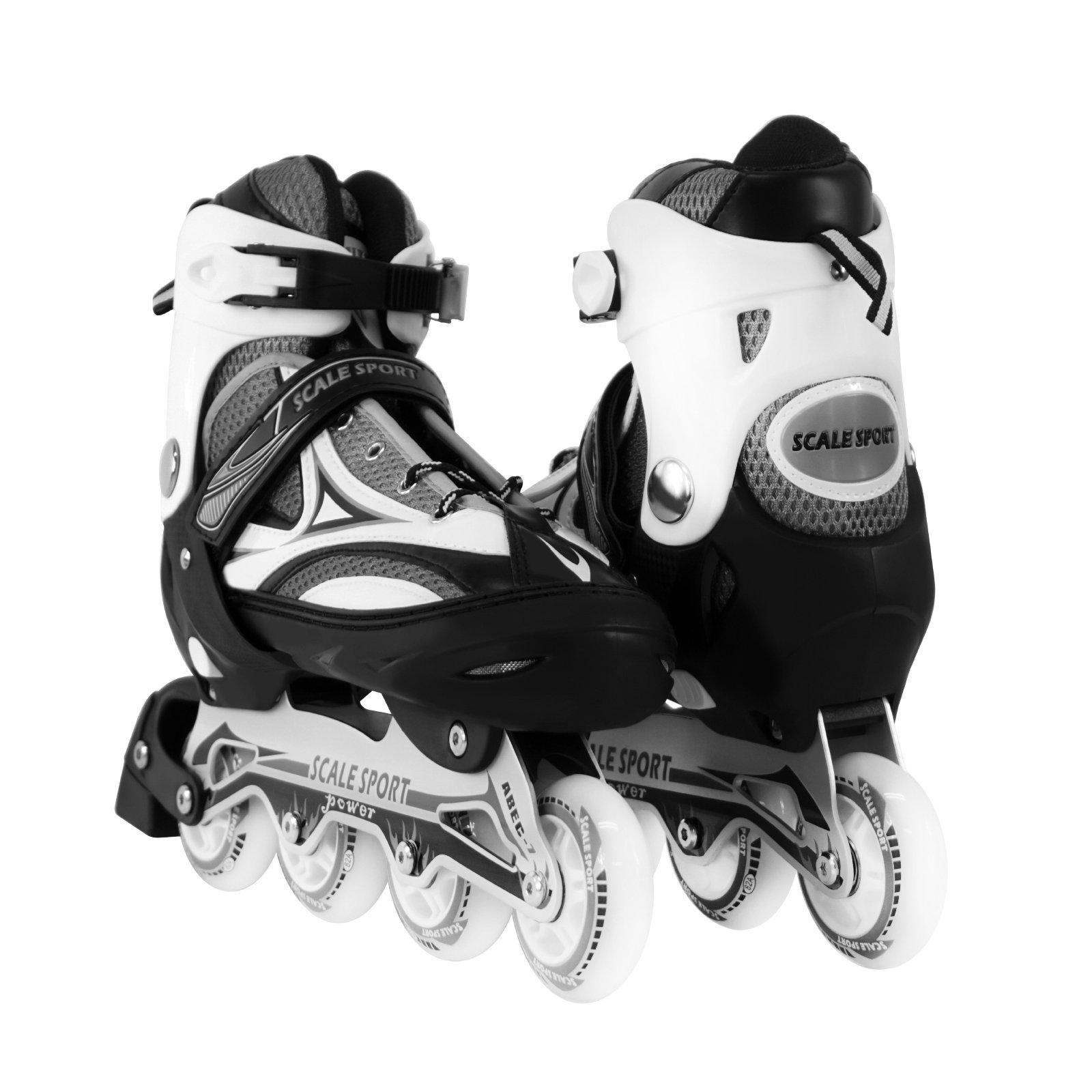 Black Adjustable Inline Skate Size 8-11 US For Men