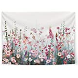 SUMGAR Colorful Flowers Tapestry Wall Hanging Pink Floral Romantic Wildflower Plants Nature Scenery Tapestries…