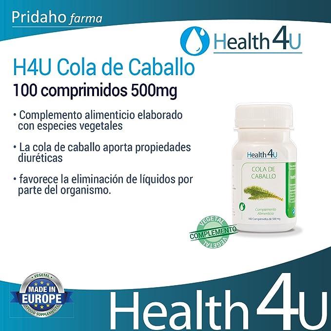 H4U - H4U Cola de Caballo 100 comprimidos 500mg: Amazon.es: Salud y cuidado personal