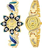 CERO Crystal of Love Golden Stunning Analogue Gilr's and Women's Watch -CE2222