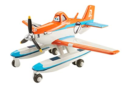 Amazon.com: Disney Planes Racer Dusty con pontoons Diecast ...