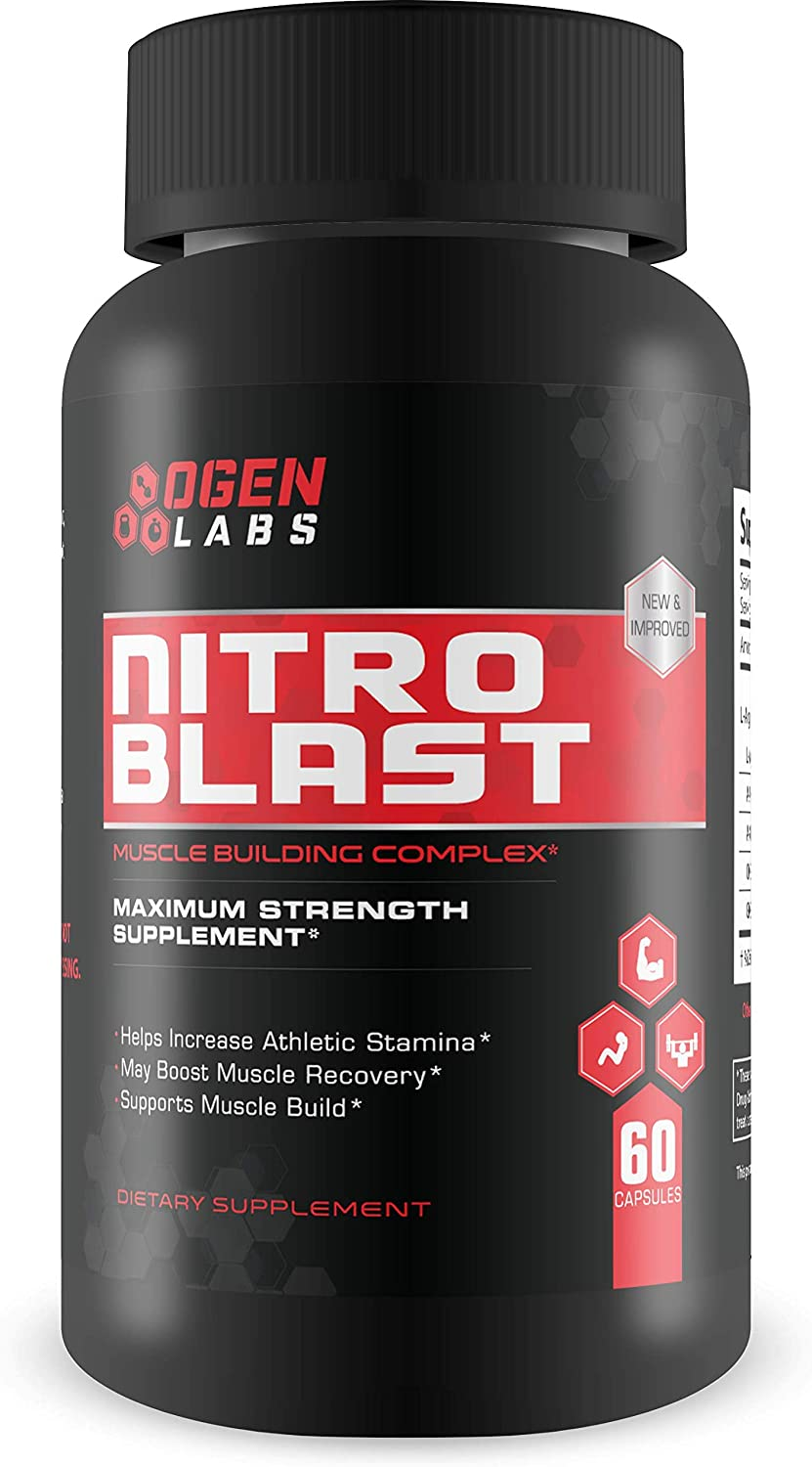 Ogen Labs- Nitro Blast- Maximum Strength Nitric Oxide Booster- Increase Stamina, Recovery and Muscle Mass