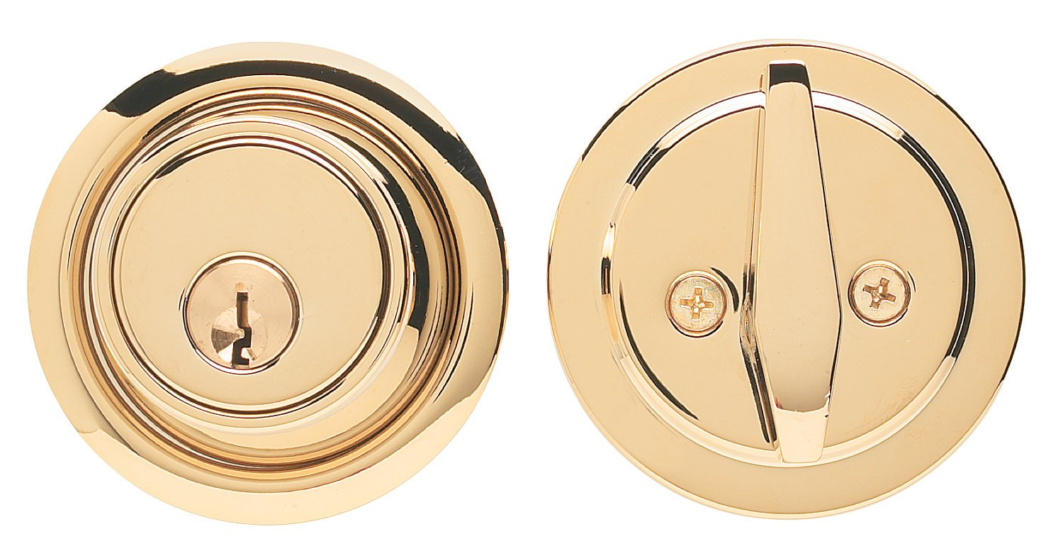 Global Door Controls D160-PVD Imperial USA Grade 2 Deadbolt