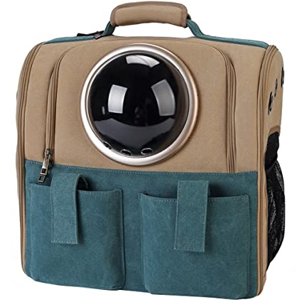 4464fc5527 Amazon.com : WINGOFFLY Large Space Capsule Backpack Breathable Pet Carrier  Portable Cat Dog Puppy Travel Bag : Pet Supplies