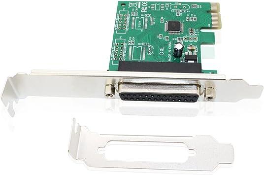 PCI Parallel Port Converter Adapter Controller for Desktop PC Jeirdus Parallel Port PCI Card PCI to DB25 LPT Parallel Port Expansion Card with Low Profile Bracket
