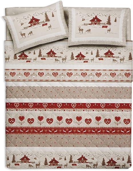 Copripiumino Tirolese Matrimoniale.Tex Family Copripiumino Tirolese Dis Valbadia Rosso Montagna
