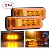 Nilight - TL-16 2PCS 3.9 Inch 3 LED Truck Trailer Amber Light Front Rear LED Side Marker Lights Clearance Indicator Lamp…