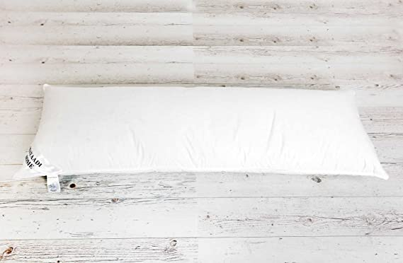 MA18 Seitenschläferkissen Schwangerschaftskissen Kissen 90 /% Federn 10 /% Daunen 145x40cm Füllung 2000 Gramm Körperkissen Stillkissen MH