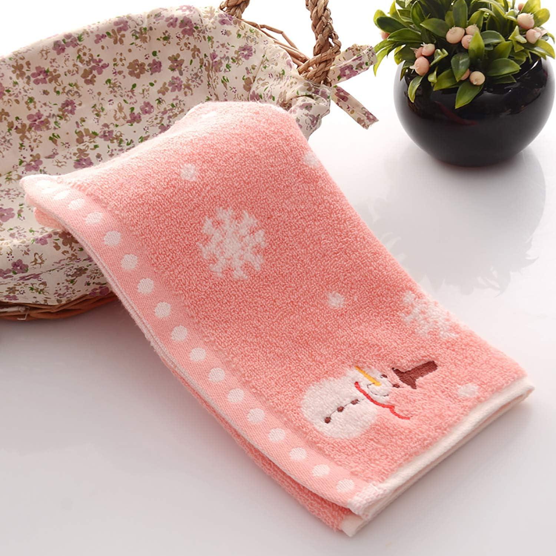 Asciugamani per Bambini Pupazzo di Neve Qrity 100/% Morbido Cotone per Bambini Asciugamani Lavamani Set di Asciugamani da Bagno 3 Confezioni, 25x50 cm