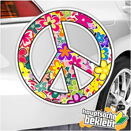 Kiwistar Peace In 7 Größen Erhältlich Aufkleber Mehrfarbig Sticker Funsticker Colored Auto