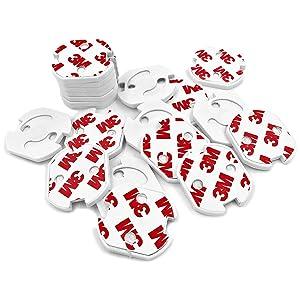 CalMyotis® Tapones de Seguridad para Enchufes - facilitar la protección infantil para enchufes para pegar (20 unidades)