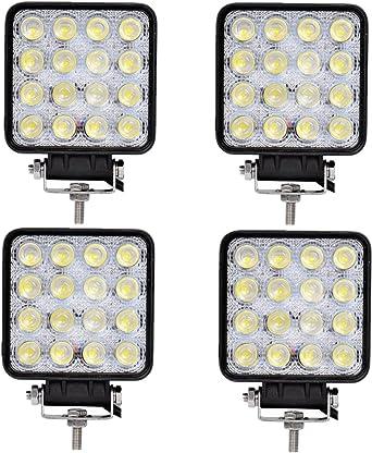 SAILUN 4x 27W LED Work Light Offroad Flood Light Reflector Headlight Working Headlamps Offroad Headlight Reversing Lamp For Automotive SUV UTV ATV 12-24V Round Coolwhite 6000-6500K 1700-1800LM