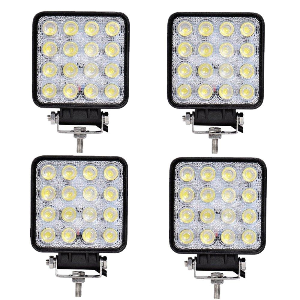 LARS360® 4X 48W LED auto luce da lavoro faro Spot Offroad Impermeabile Proiettore Riflettore Worklight per Fuoristrada SUV ATV UTV lampada lavoro trattore escavatore
