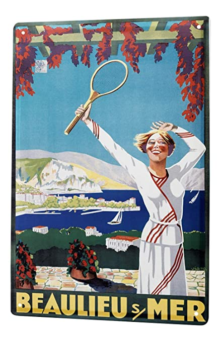 Tin Sign XXL Nostalgic Tennis metal plate plaque