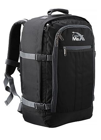 5158271b6 Cabin Max Metz Extra mochila equipaje de mano aprobado para vuelos  55x40x20cm (negro/gris): Amazon.es: Equipaje
