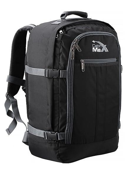 Cabin Max Metz Extra mochila equipaje de mano aprobado para vuelos 55x40x20cm (negro/gris): Amazon.es: Zapatos y complementos