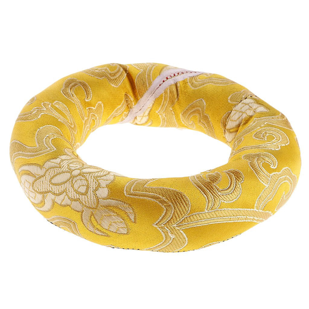 Jili Online Handmade Nepalese Tibetan Ring Cushion for Singing Bowls Home Office Yoga Class Decoration - Random Color, 12cm