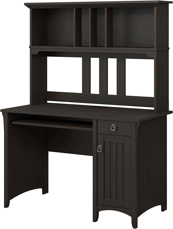 Amazon Com Bush Furniture Salinas Small Computer Desk With Hutch Vintage Black Furniture Decor