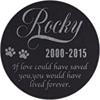 Personalized Pet Memorial Stone - Granite Dog or Cat Grave Marker | 4 Sizes |Sympathy Poem, Loss of Pet Gift, Indoor - Outdoor Tombstone…