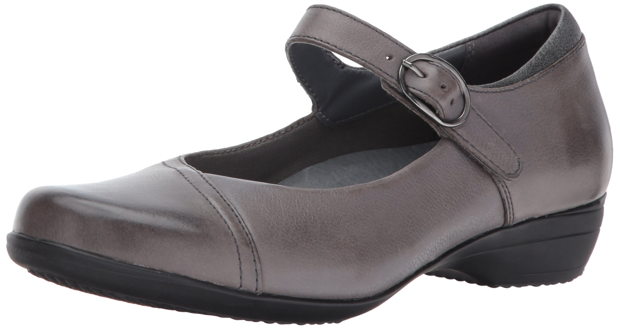 Dansko Women's Fawna Mary Jane Flat,Grey Burnished Nappa,37 EU/6.5-7 M US