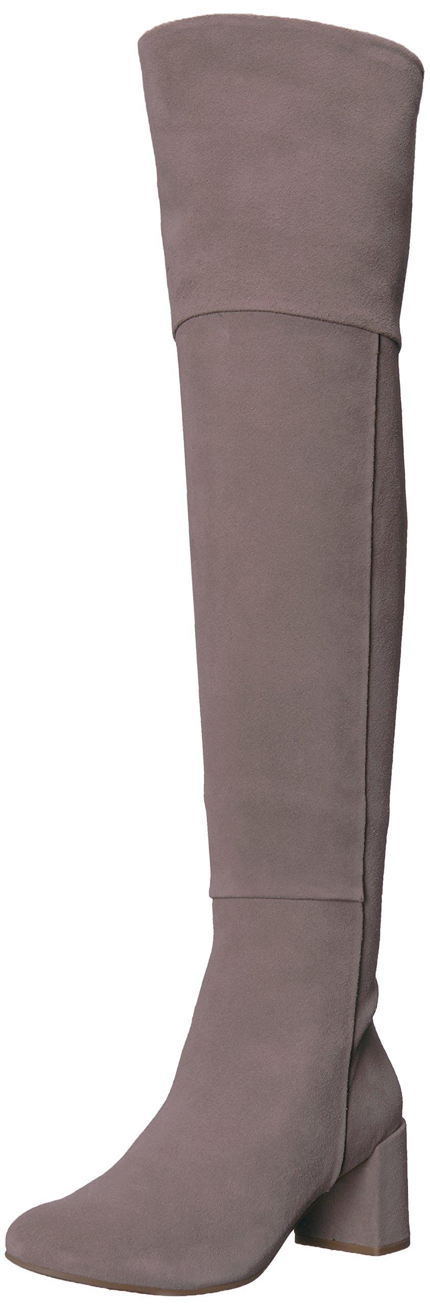 Taryn Rose Women's Catherine Lux Suede Fashion Boot, Grey/Grey, 9 M Medium US