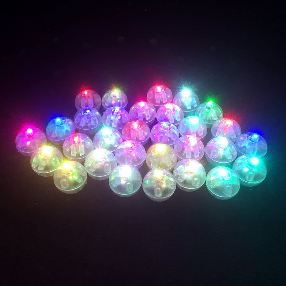 Round LED Flash Ball Lamps Balloon Lights For Paper Lantern Wedding Party Decor