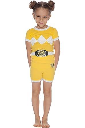 8b98873d5b Amazon.com  Power Rangers Girls  Toddler Yellow Costume Pajama Short ...