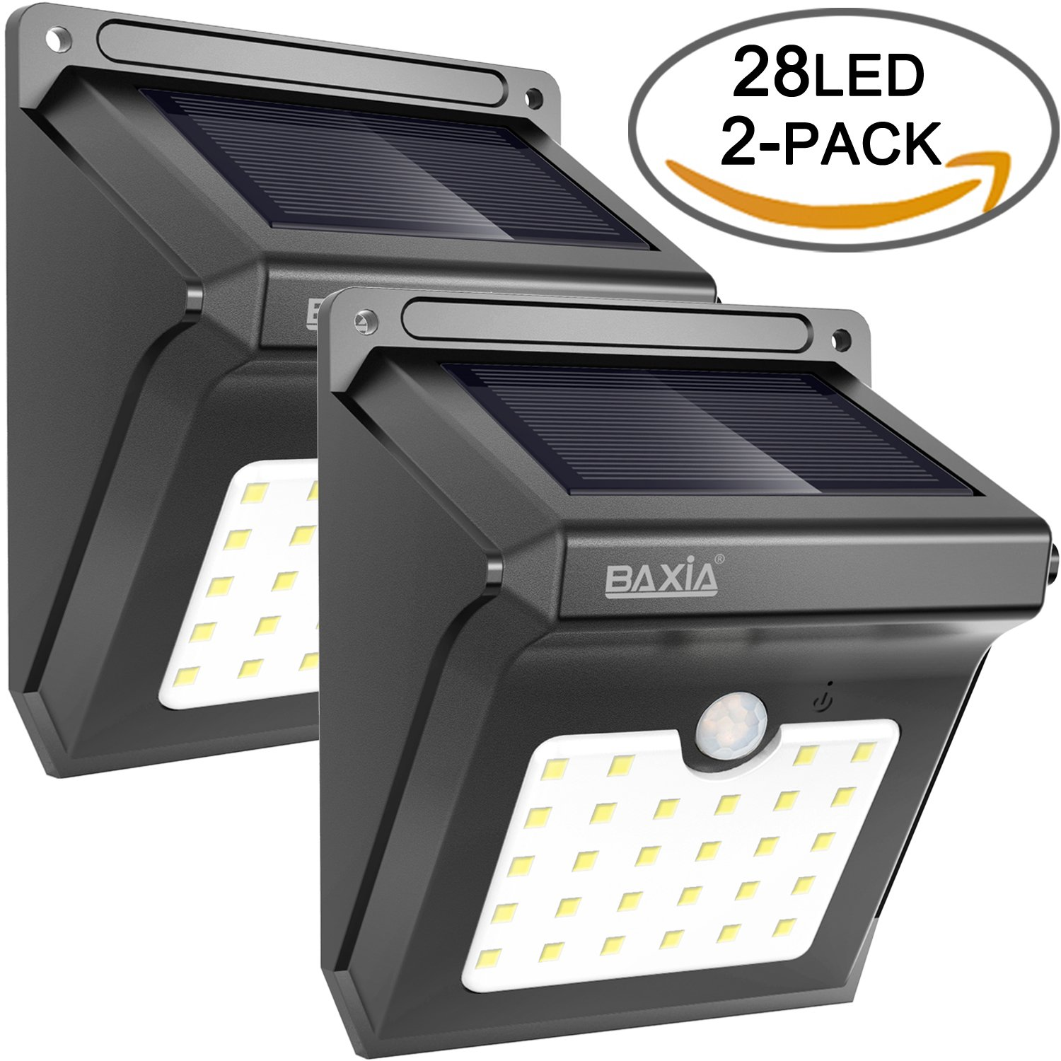 28 LED Solar Motion Sensor Security Wall Lights-BAXIA TECHNOLOGY Waterproof Wireless Bright LED Light