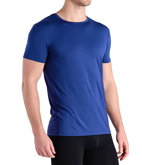 dac56ed7fed6 COMFORTABLE CLUB Men's Modal Slimfit T-Shirt/Undershirt Crew Neck (Medium,  Monaco