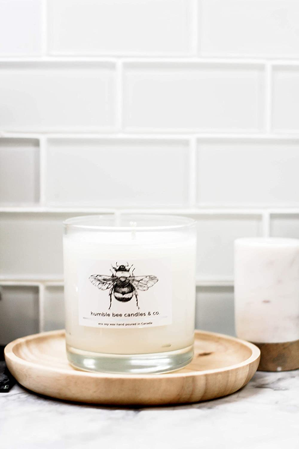 Humble Bee Soy & Coconut Wax Signature Candle - EAGLE WOOD (baby powder scent)